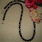 Silver Smoke Jasper Gemstone Beaded Necklace