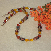 Beaded Necklace With Mixture Of Colors