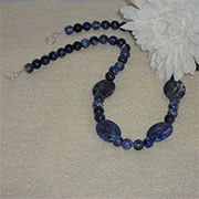 Sodalite Gemstone Beaded Necklace
