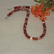 Fire Agate Gemstone Beaded Necklace