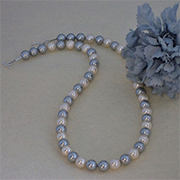 Platinum And White Shell Pearl Necklace