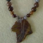 Fancy Jasper Gemstone Beaded Necklace With Pendant