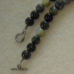Picasso Jasper Gemstone Beaded Necklace With Pendant
