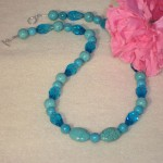 Turquoise Howlite Gemstone Necklace
