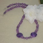 Purple Candy Jade Gemstone Necklace