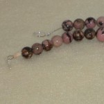 Rhodonite And Rose Quartz Gemstone Beaded Necklace