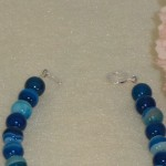 Blue Striped Agate Gemstone Bracelet