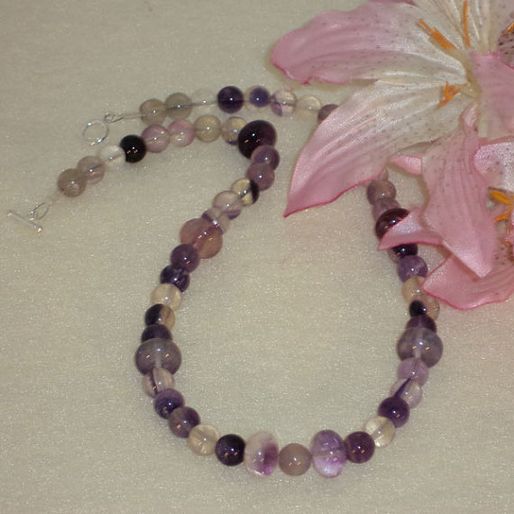 Fluorite Gemstone Beaded Necklace