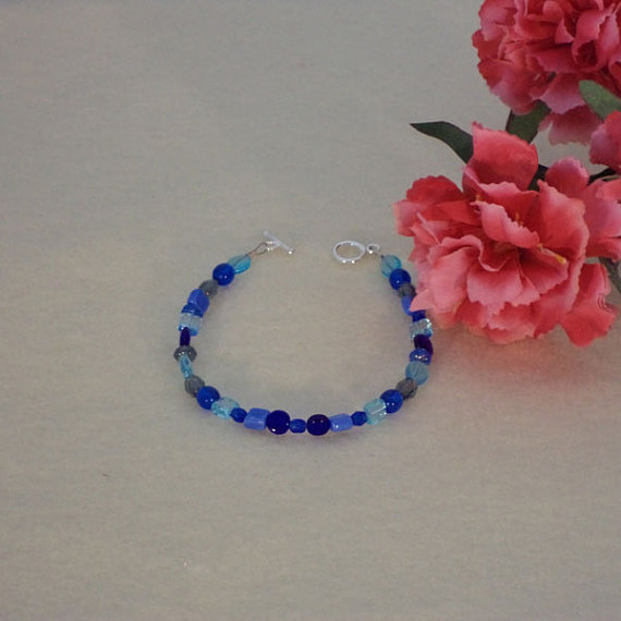 Blue Bracelet With Mixture Of Shapes