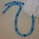 Array of Blues in Crystal Rondelle Beaded Necklace