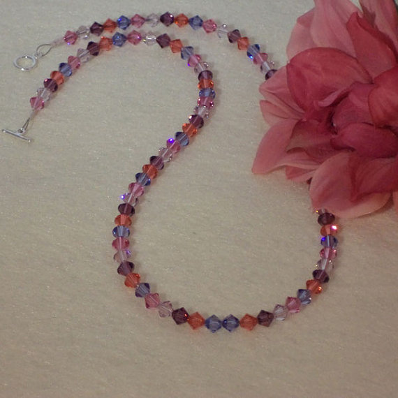 Swarovski Crystal Necklace In An Array Of Colors