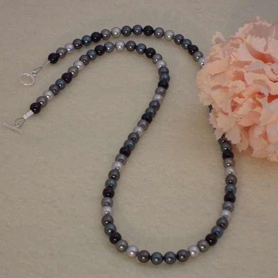 Swarovski Crystal Pearls In Black, Gray and Tahitian