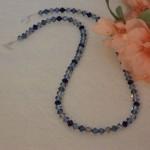 Swarovski Crystal Necklace In Dark Blues and Black