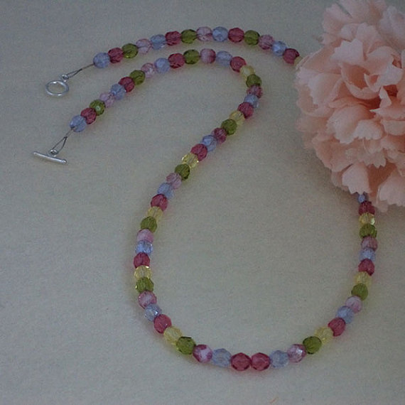 Array Of Colors For Glass Beaded Necklace