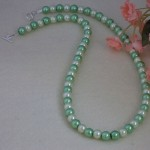 Mint & Light Yellow Glass Pearl Necklace