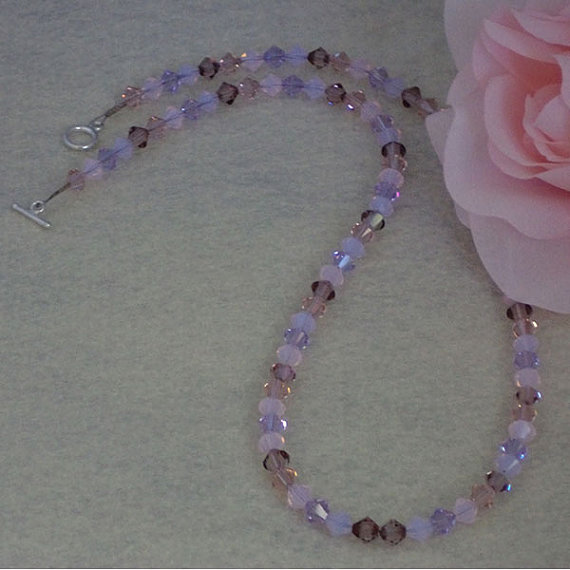Swarovski Crystal Bicone Necklace In A Mixture Of Colors