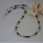 Swarovski Crystal Bicone Necklace In Elegant Colors