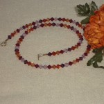 Swarovski Crystal Bicone Necklace In Gorgeous Colors
