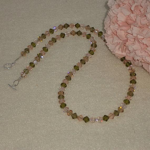 Swarovski Crystal Bicones Necklace In Alluring Colors
