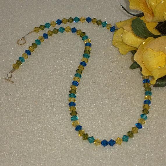 Swarovski Crystal Bicone Necklace in Dazzling Colors