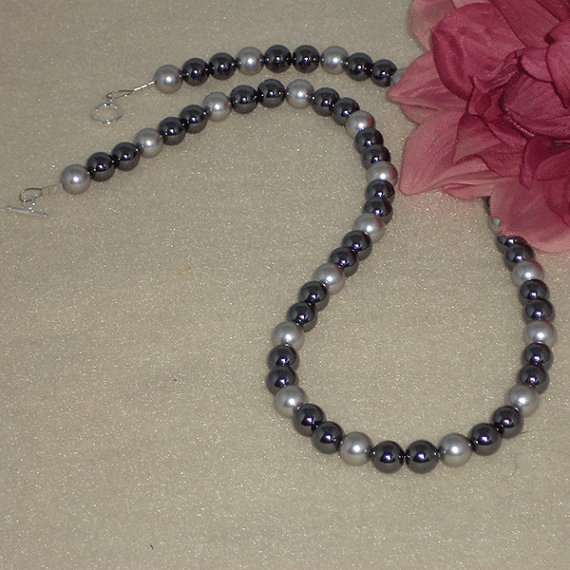 Hematite Gemstone Beaded Necklace