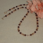 Swarovski Crystal Bicone Necklace In Captivating Colors