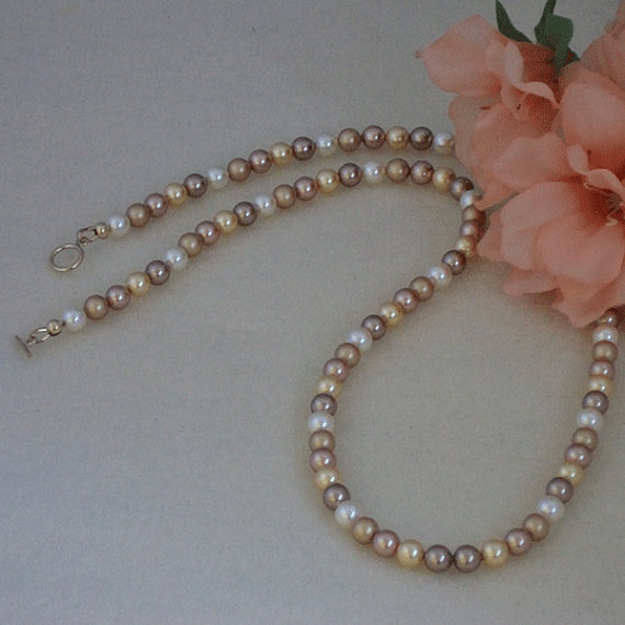 Swarovski Crystal Pearl Necklace In Magnificent Colors