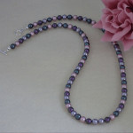 Swarovski Crystal Pearl Necklace In A Mixture of Splendid Colors
