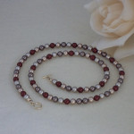 Swarovski Crystal Pearl Necklace In An Exciting Combination of Colors