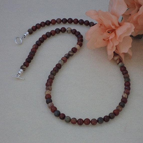 Apple Jasper Gemstone Necklace
