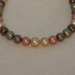Earth Tone Colors For Shell Pearl Necklace