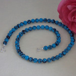 Blue Sky Jasper Gemstone Beaded Necklace