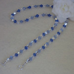 Swarovski Crystal Beaded Necklace In Sapphire & Silver Gray
