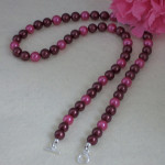 Mixture Of Black Cherry & Pink Colors For Shell Pearl Necklace