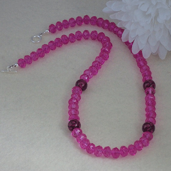 Colorful Crystal Rondelles Accented With Lampwork Beads