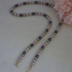 Swarovski Crystal Pearl Necklace In Exciting Colors