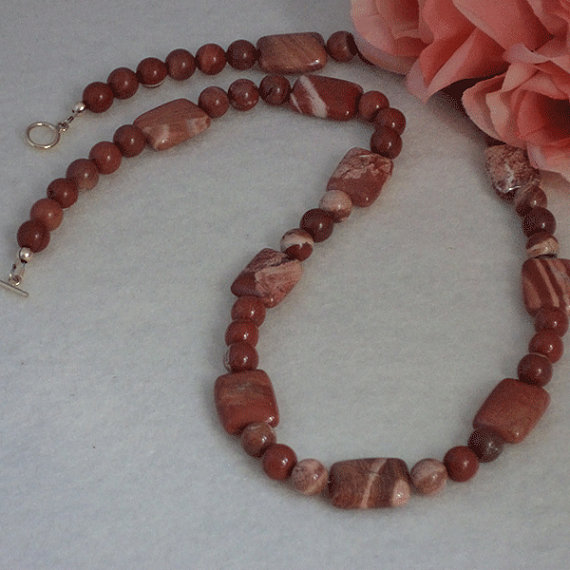 Cappuccino Jasper Gemstone Necklace