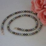 Swarovski Crystal Pearl Necklace In A Combination Of Colors