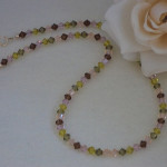 Swarovski Crystal Beaded Necklace In A Variety Of Colors