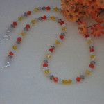 Swarovski Crystal Necklace In Cheerful Colors