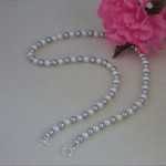 Swarovski Crystal Pearl Necklace In Classic Colors