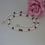 Classic Swarovski Crystal Pearl Necklace Accented With Swarovski Crystal Beads