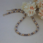 Swarovski Crystal Pearl Necklace In Versatile Colors
