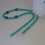 Czech Glass Beaded Necklace Accented With Lampwork Beads