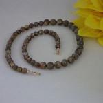 Rhyolite Gemstone Beaded Necklace