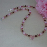 Swarovski Crystal Necklace In A Stylish Mixture Of Colors
