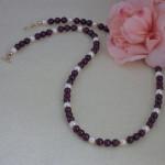 Blackberry & Creamrose Swarovski Crystal Pearl Necklace