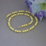 Swarovski Crystal Pearl Necklace In Pastel Yellow