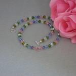 Colorful Swarovski Crystal Beaded Necklace