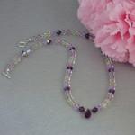 Swarovski Crystal Necklace In Delicate Colors